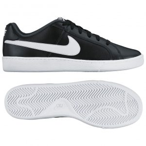 sorte og hvide court royale nike sneakers